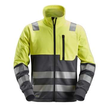 Gul High-Vis fleecejakke - Snickers Workwear 8035