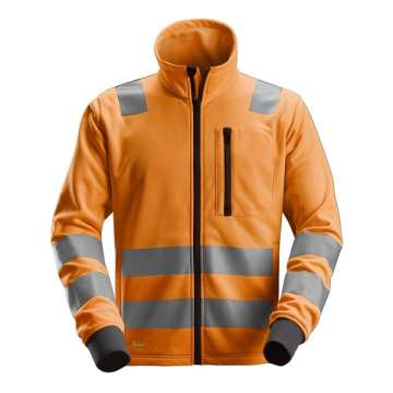 Oransje High-Vis fleecejakke - Snickers Workwear 8036