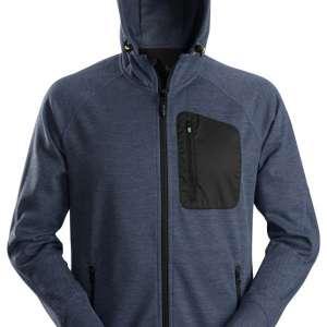 Marineblå hettejakke Fleece - Snickers Workwear