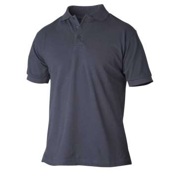 Marineblå pique t-skjorte i bomull