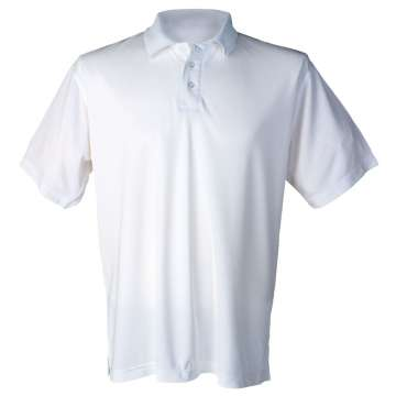 Hvit pique t-skjorte