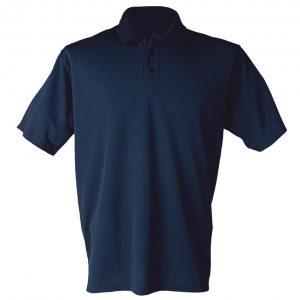 Marineblå pique t-skjorte