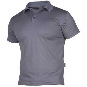 Grå pique t-skjorte