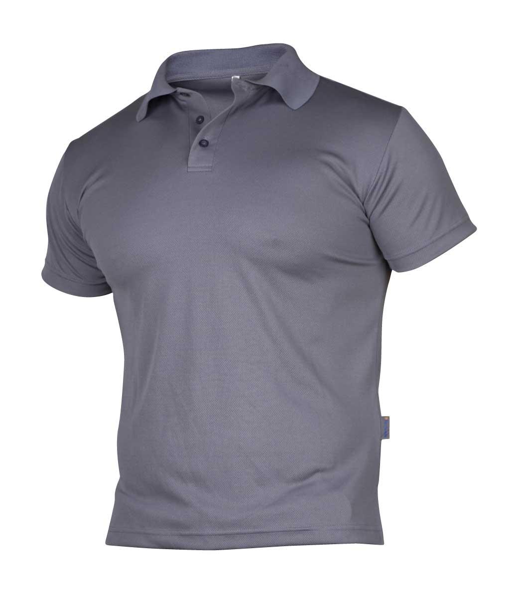 Grå pique t skjorte ~ Ezzenza.no Arbeidsklær