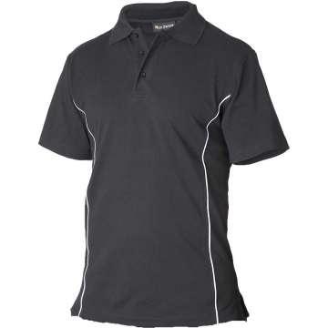 Svart pique t-skjorte - 100% bomull