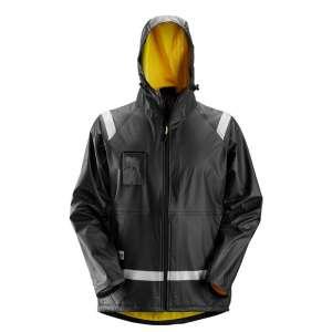 Svart regnjakke fra Snickers Workwear 8200
