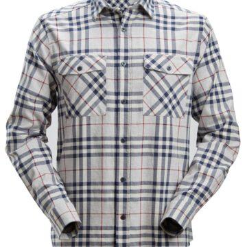 Langermet Snickers flanellskjorte med klassisk mønster for daglig bruk
