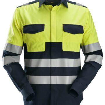 Snickers Langermet skjorte som beskytter mot varme, flammer og lysbuer.