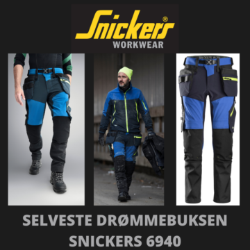 Blå stretchbukse - Snickers 6940