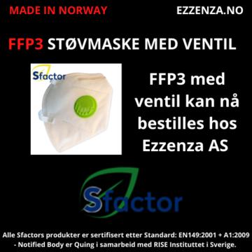 Støvmaske i FFp3 med ventil
