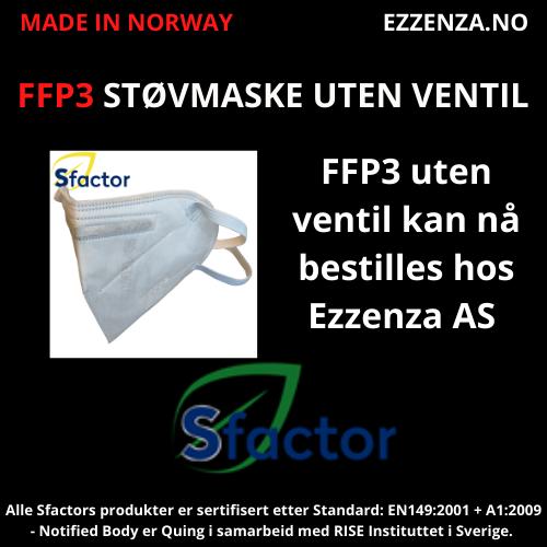FFP3 støvmaske og åndedrettsvern uten ventil