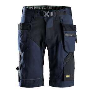 Marineblå shorts med hylsterlommer