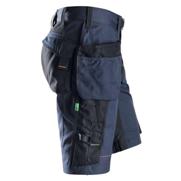 FlexiWork_Snickers_Workwear_Marineblå_svart_Shorts_med_hylsterlommer_sett_fra_høyre-800x800