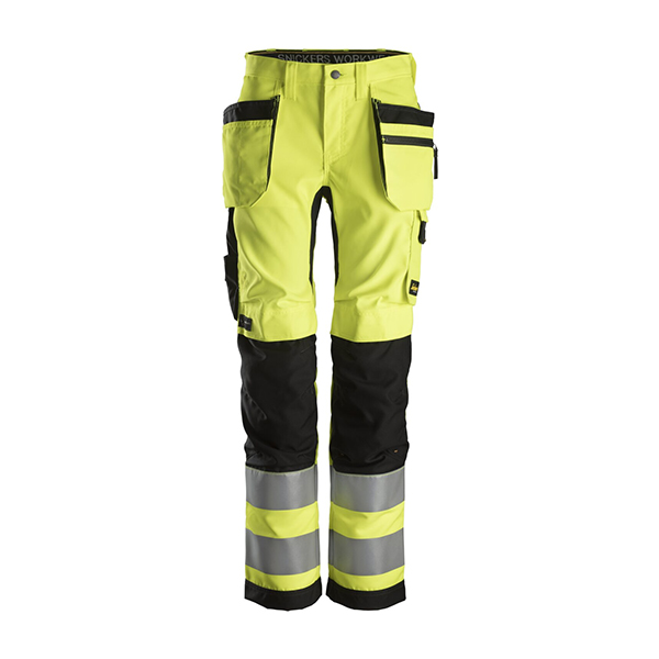 6730-6604-gul high vis bukse for dame fra Snickers