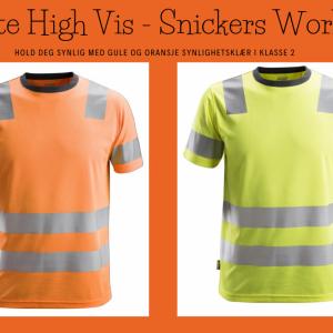 Gul og oransje High-Vis T-skjorte - Snickers Workwear 2530