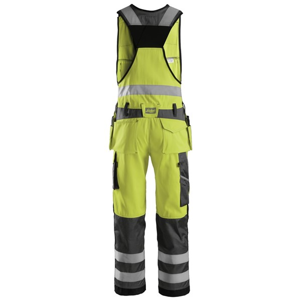 Gul Snickers High Vis helbukse for herre i kl. a