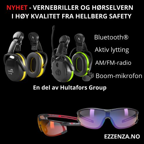 Vernebriller og hørselvern fra Hellberg Safety.