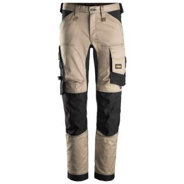 Khaki stretch bukse - Snickers Workwear 6341