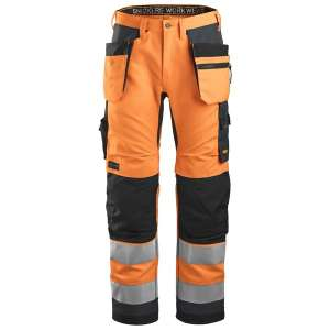 Oransje High-Vis bukse - Snickers Workwear 6230