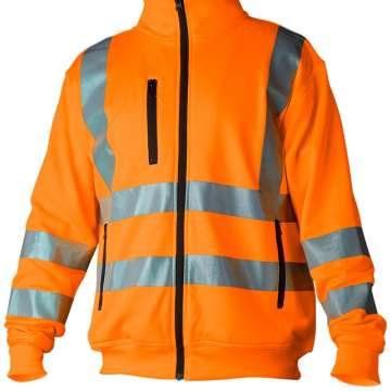 Oransje jakke med refleks