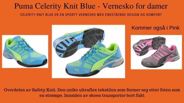 Puma Celerity Knit Blue - Vernesko for damer_canvabilde