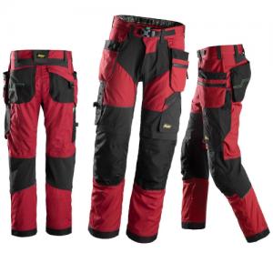 Rød arbeidsbukse - Snickers Workwear 6902