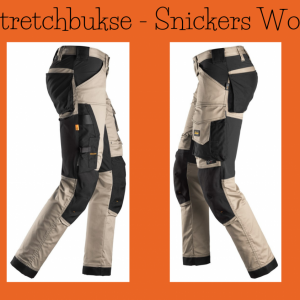 Khaki stretch arbeidsbukse - Snickers Workwear 6341