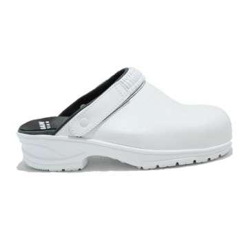 Hvit verneclog tresko - vendbar helrem fra Sulman Footwear