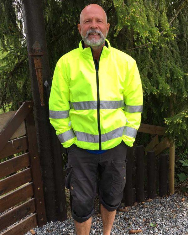 Vendbar varseljakke fra Top Swede