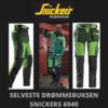 Grønn stretchbukse - Snickers 6940