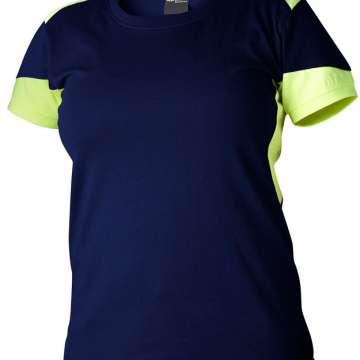 Marineblå t-skjorte dame