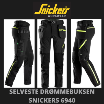 Svart stretchbukse - Snickers 6940
